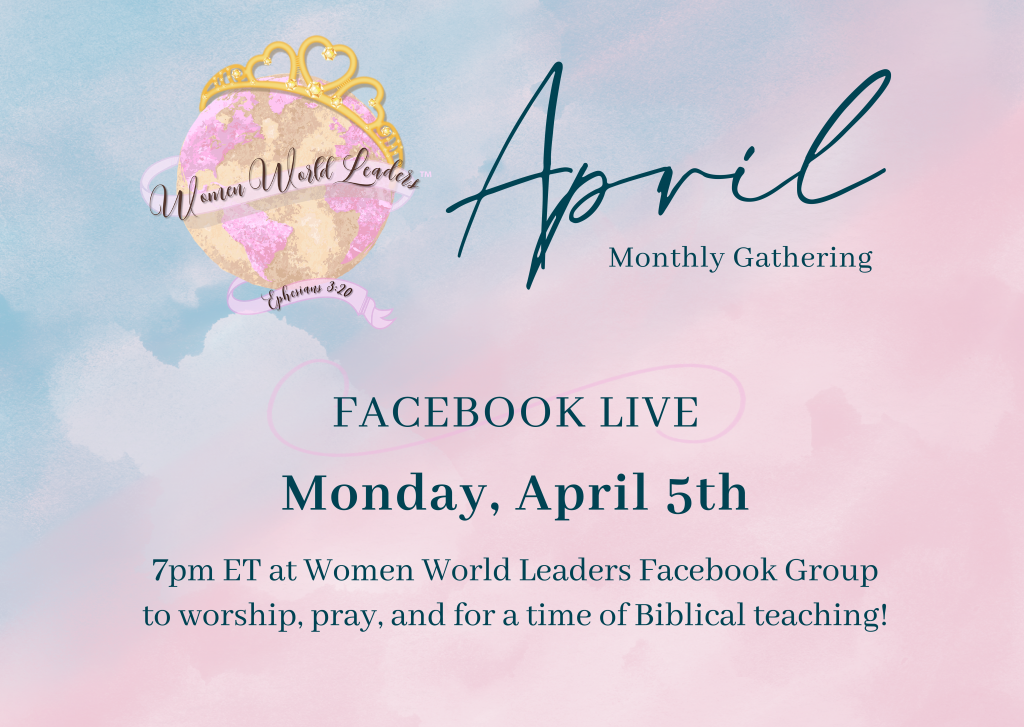 April Monthly Facebook Live Teaching & Worship