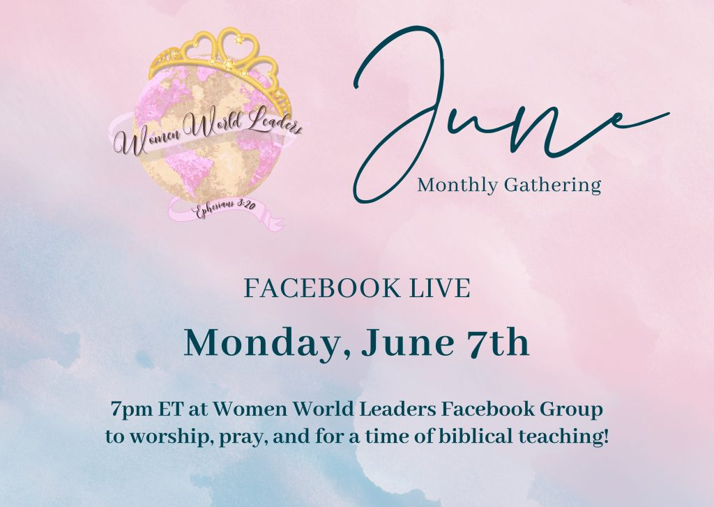 June Monthly Facebook Live Teaching & Worship